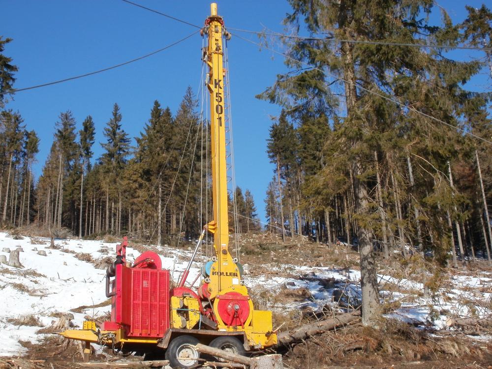 Výsledok vyhľadávania obrázkov pre dopyt Lanovka lesný stroj